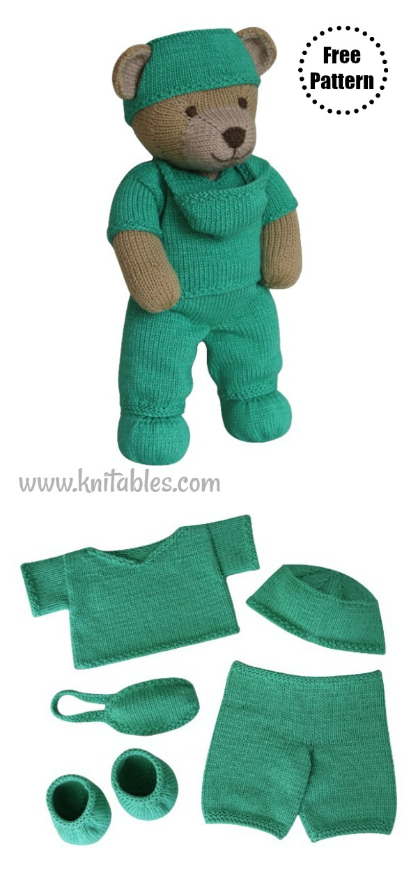 Hero Teddy Bear Free Knitting Pattern
