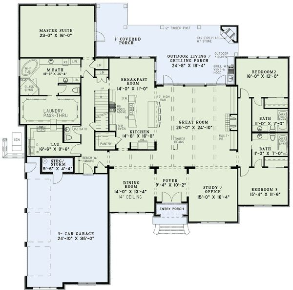 Great Floor Plan House Plans And More House Plans Monster House Plans
