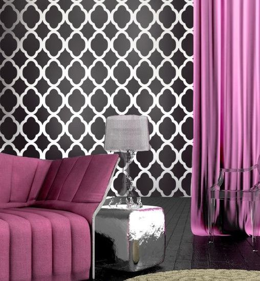 Pink And Black Bedroom Designs Enchanting Beautiful Black White And Purple Colors Design Amazing Room With Inspiration Design