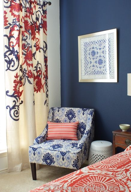 I Redid Our Master Bedroom Again! {Navy And Coral Bedroom}   Decorchick!