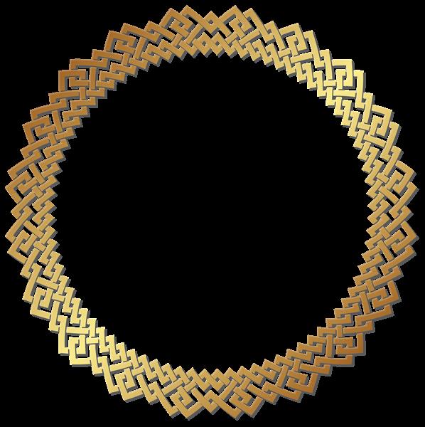 Round Golden Border Frame Transparent Png Clip Art Clip Art Floral Border Design Free Clip Art