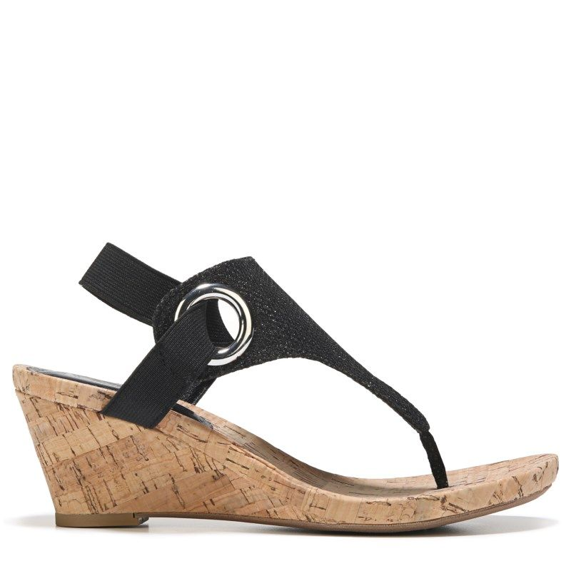 Women S Aida Wedge Sandal In 2020 Wedge Sandals Black
