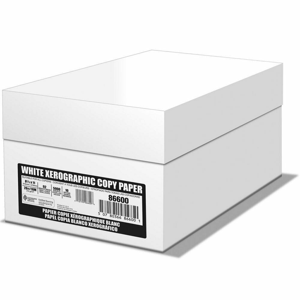 Sponsored Ebay White Office Copy Paper 20 Lb 92 Bright 8 5 X 11 10 Ream Case 5000 Sheets New Copy Paper White Office Paper