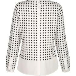 Photo of Alba Moda, blusa con un look a strati alla moda, Alba Moda bianca