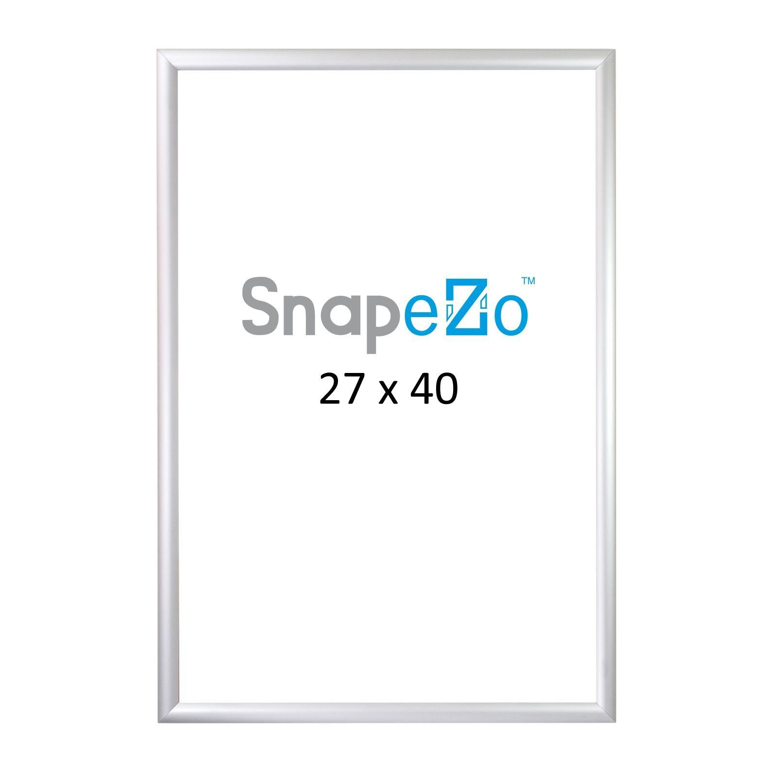 Snapezo Movie Poster Frame 27x40 Inches Silver 1 2 Aluminum Profile Frontloading Snap Frame Wall Mounting Premium Series For Poster Frame Frames On Wall Frame