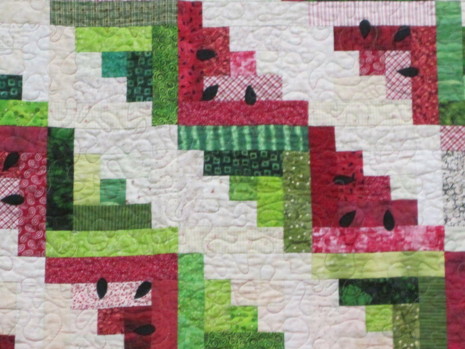 watermelon quilt- cuz i love watermelon! | Quilts | Pinterest ... : watermelon quilt pattern - Adamdwight.com