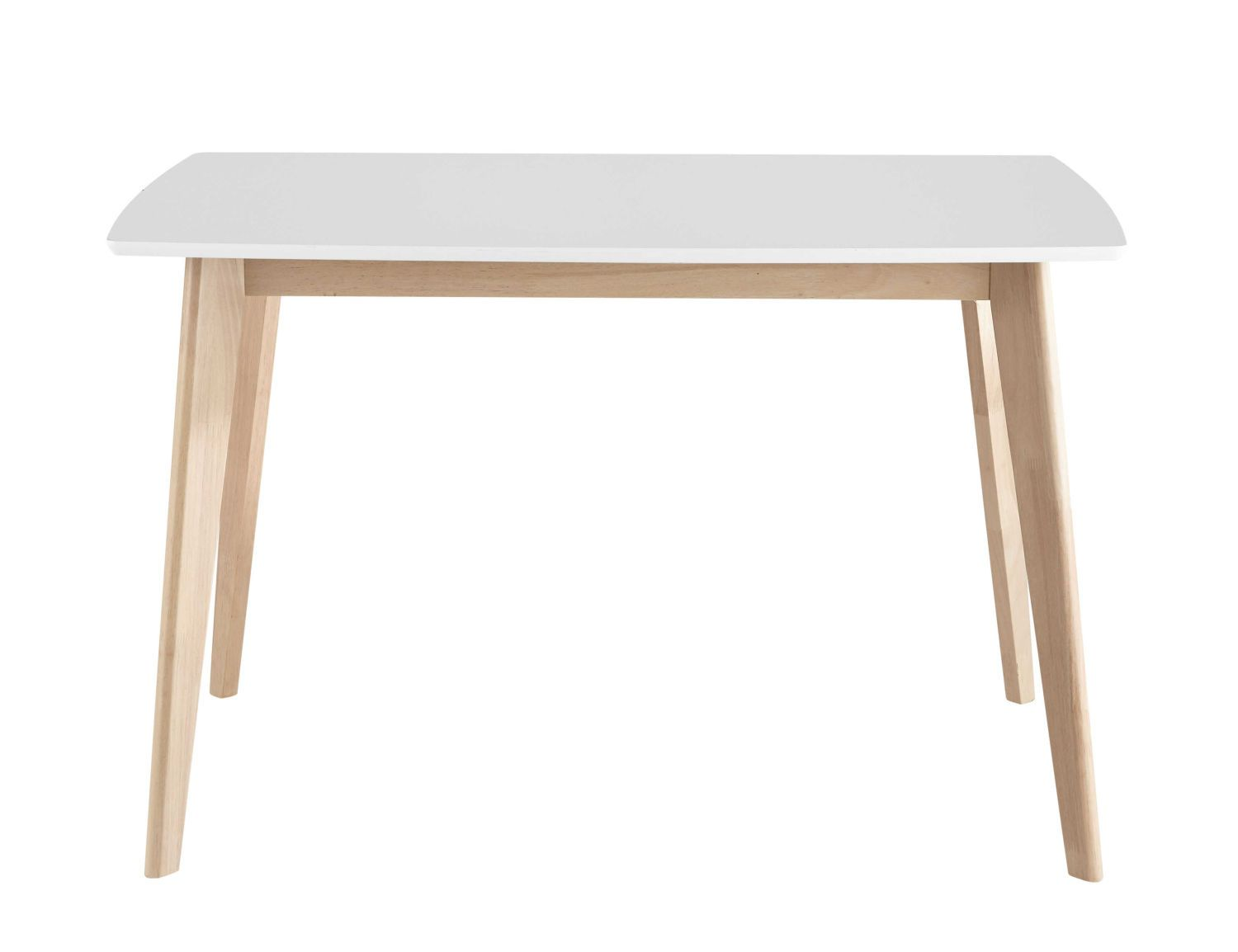 Table A Manger Blanche 4 6 Personnes L120 White Dining Table