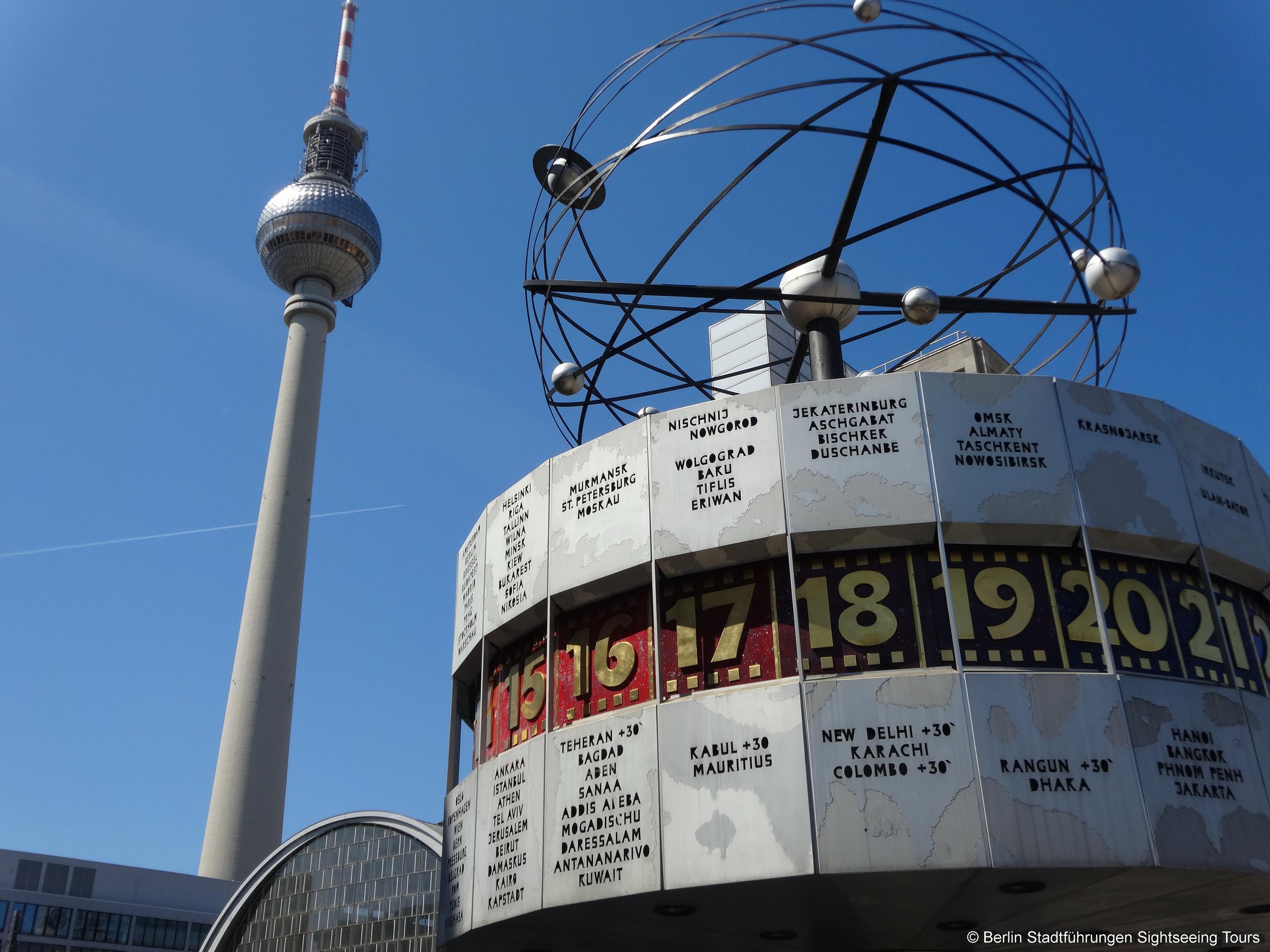 Weltzeituhr Alexanderplatz Berlin World Time Clock Berlin City Berlin Tour Berlin Walking Tour