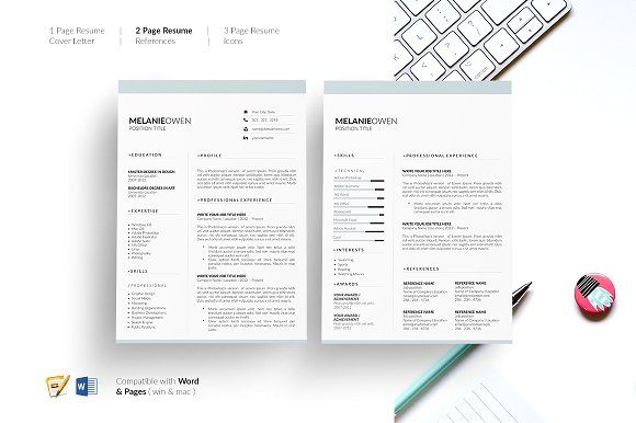 5 Page Resume CV Template Resume by GraphicFlava on - resume 5 pages
