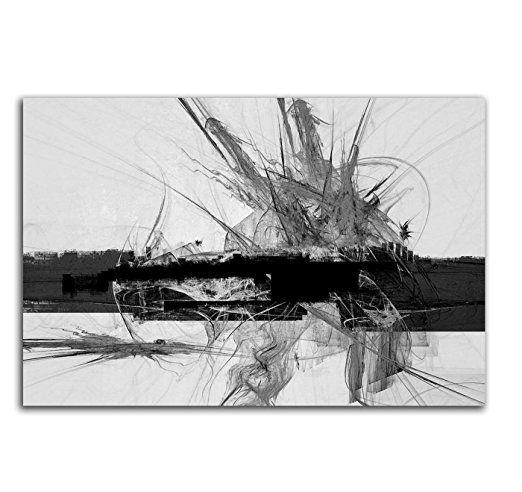 Abstrakt323 - 120x80cm SCHWARZ-WEISS Bilder - Bilder abstrakt - wohnzimmer bilder abstrakt