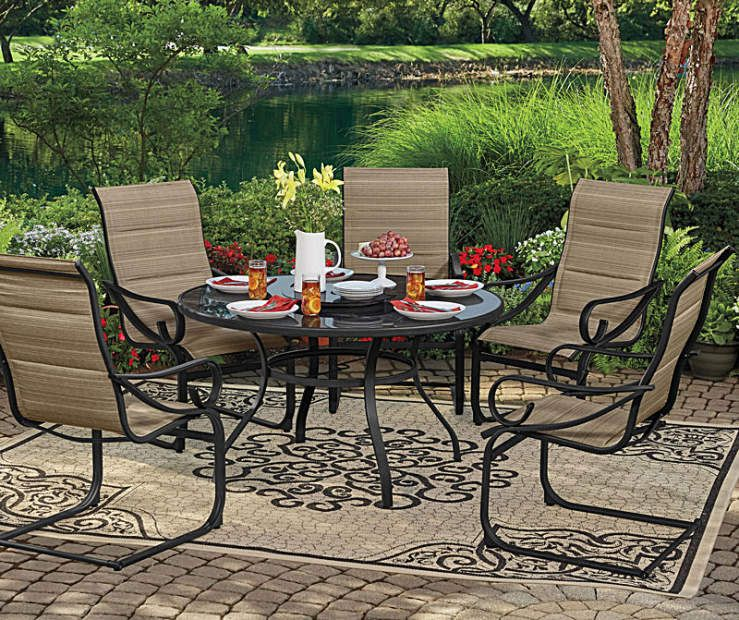 Wilson Fisher Tahoe Patio Dining Collection All Weather Spring Action Rocker Chairs And