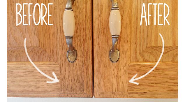 How To Clean Grimy Kitchen Cabinets With 2 Ingredients Cleaning