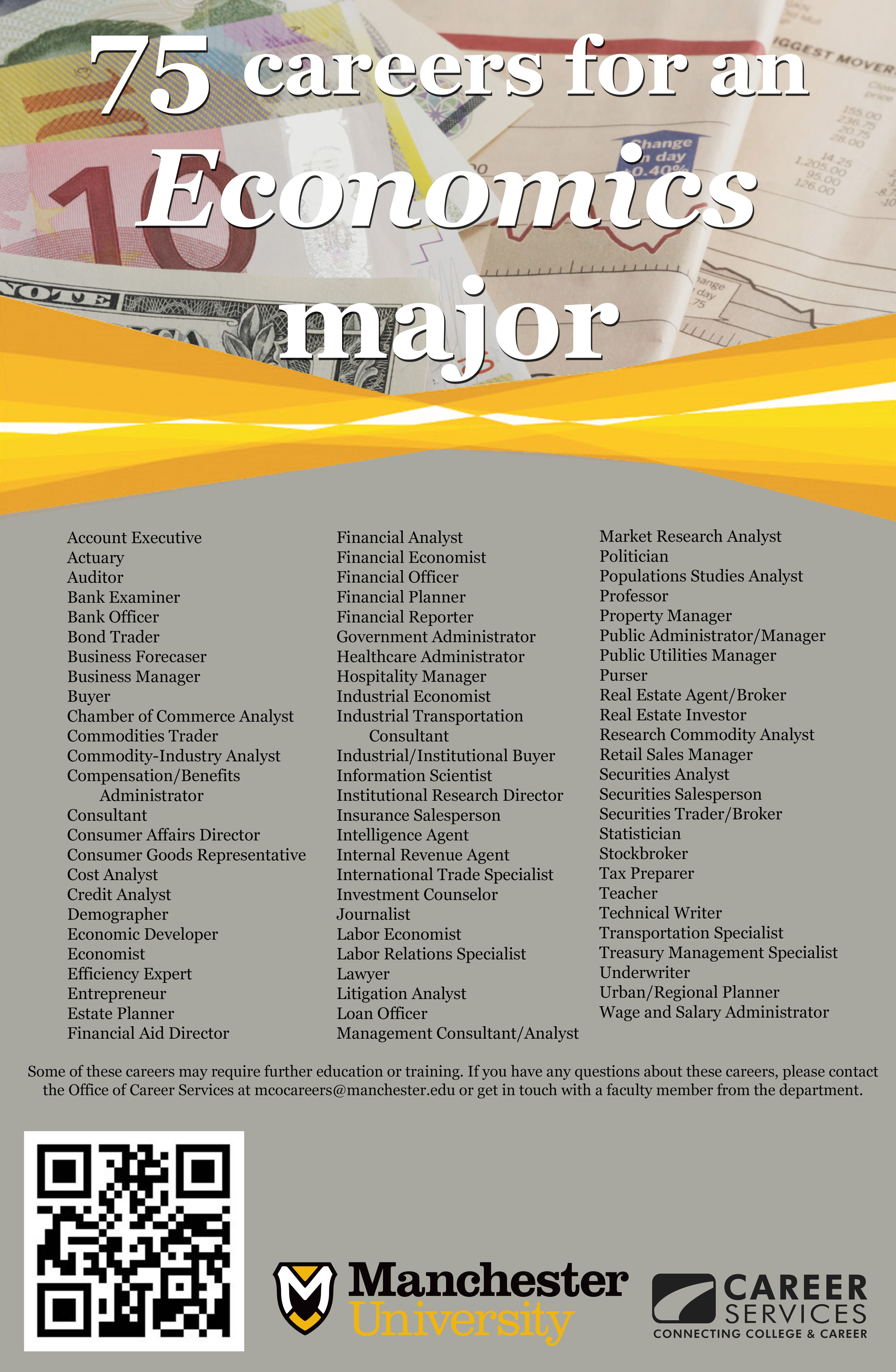 75 careers for an Economics Major | School | Pinterest | College ...