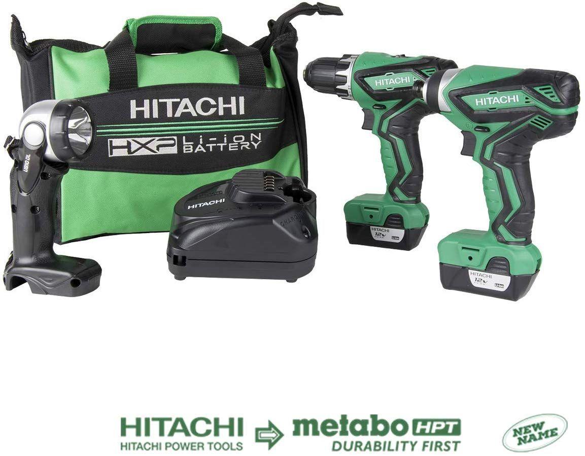 Hitachi Kc10dfl2 12 Volt Peak Cordless Lithium Ion Driver Drill And Impact Driver Combo Kit Lifetime Tool Warranty In 2020 Hitachi Combo Kit Impact Driver