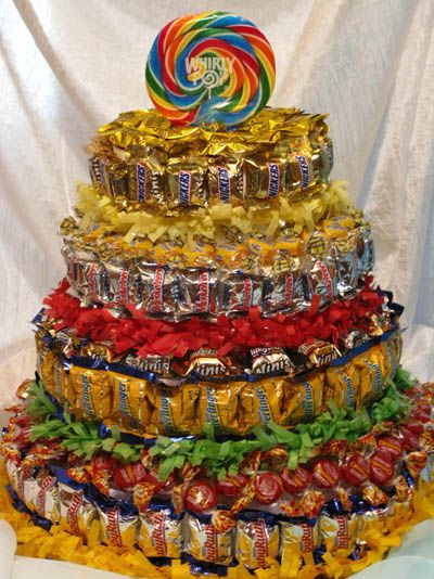 Cake made out of candy i know a little boy who would love