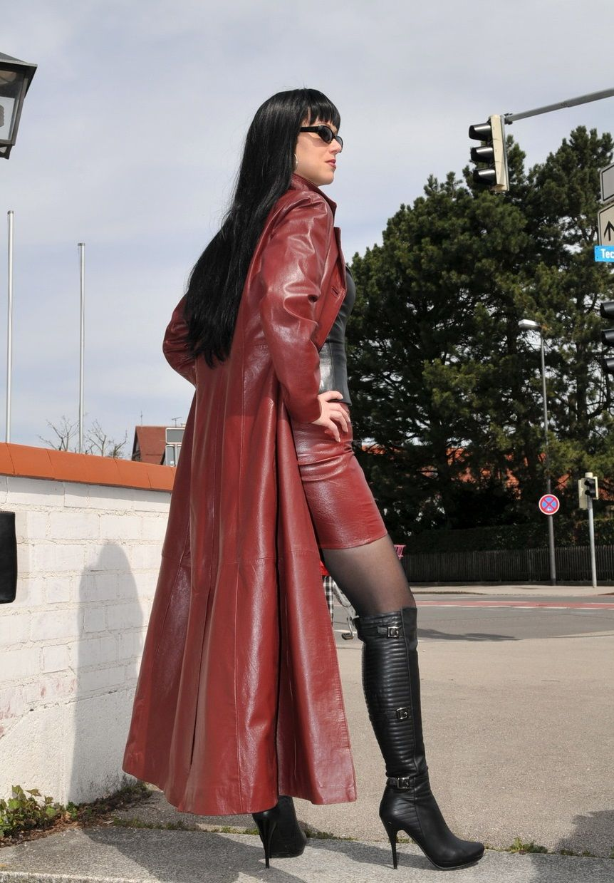 Fetish Lady Anja Ledermantel Pinterest Leather
