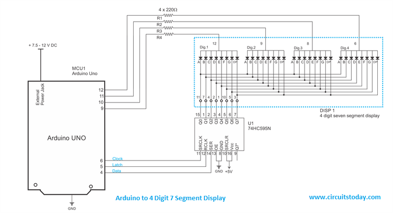 Arduino seven segment display wiring diagram wiring diagram arduino to 7 segment display circuit diagram arduino pinterest single 7 segment arduino uno projects arduino seven segment display wiring diagram asfbconference2016 Gallery