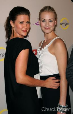 Sarah Lancaster and Yvonne Strahovski at the NBC TCA party
