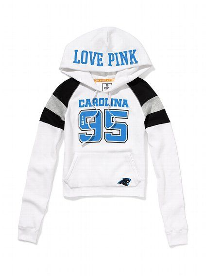 New Carolina Panthers Shrunken Pullover Hoodie Victoria's Secret  for cheap