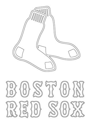 Boston Red Sox Logo coloring page | craft | Pinterest | Medias rojas ...