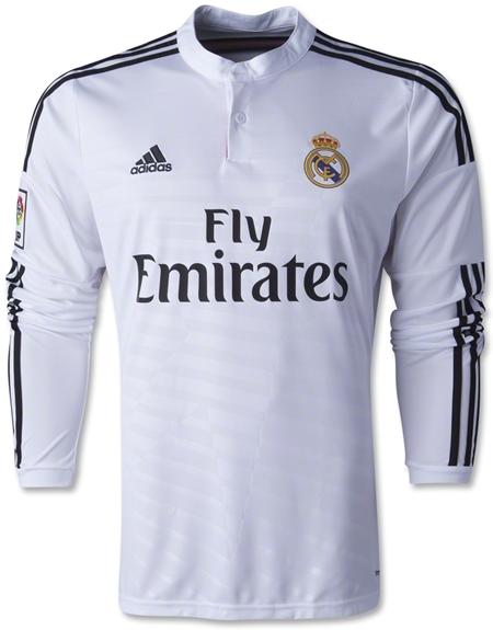 Jersey Jersey Real Madrid Home Lengan Panjang 2014-2015 ... ac39b97e9