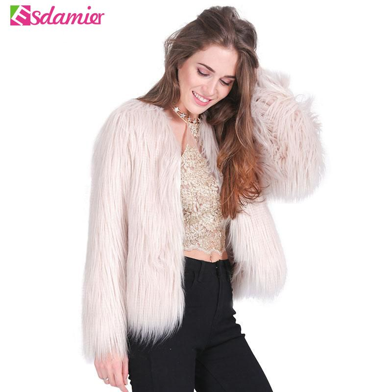 Cheap coated steel, Buy Quality jackets racing directly from China coat  short Suppliers: Pink Women's Faux Fur Coat Autumn Winter Luxury Furry Coat  Shaggy ...