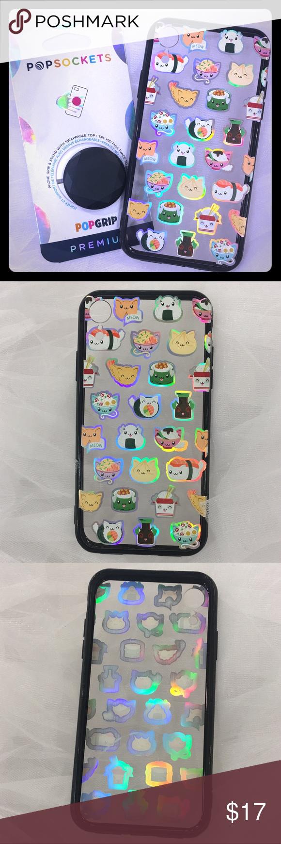 XR Holo Sushi Cat Case + Black Popsocket New, unused