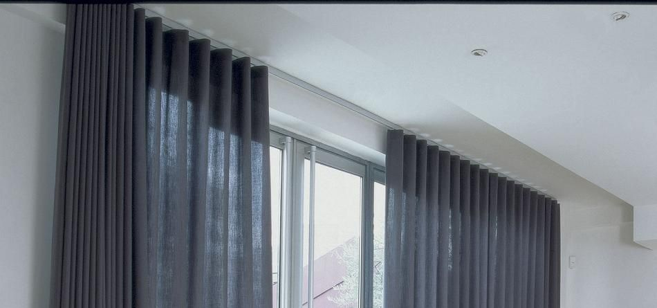slim line powder coated aluminum curtain tracks motorized and corded curtain tracks are a specially designed
