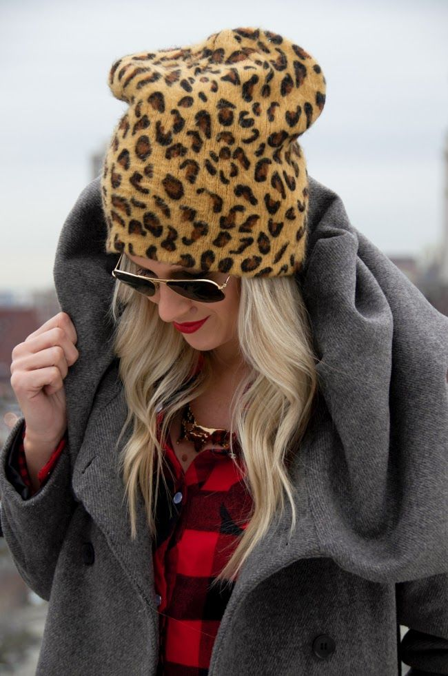 f46ff1c8d3c Love the leopard hat...and that looks like that big collared Zara coat that  I was feining over!  JO