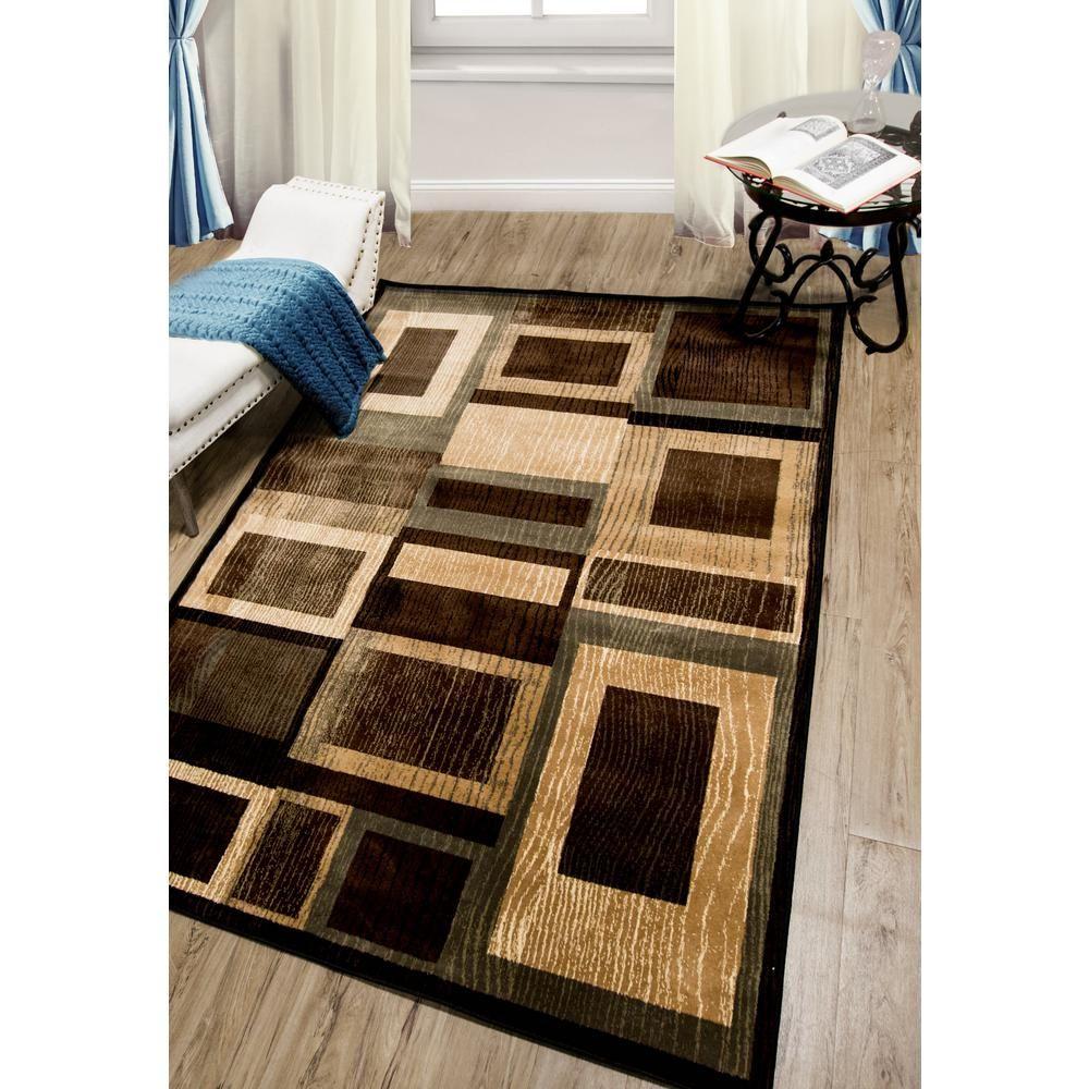 Bazaar Gal 1196 Black Brown 8 Ft X 10 Ft Indoor Area Rug 1 1196