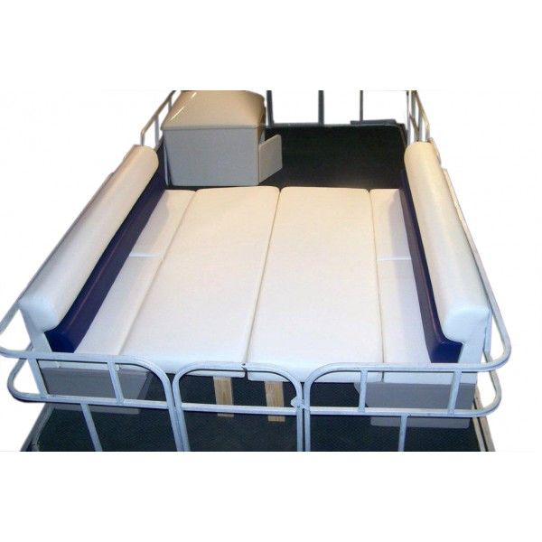 Houseboat Furniture And Accessories: When Using Fence/rail Risers, Water Drains Off The Pontoon