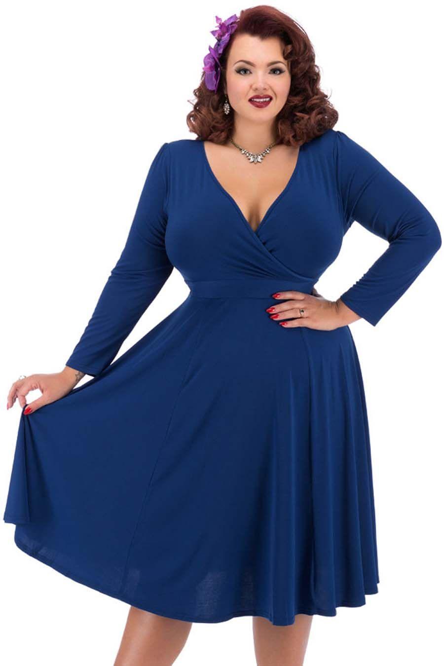 Šaty lady v london long sleeved lyra navy blanka straka novinky