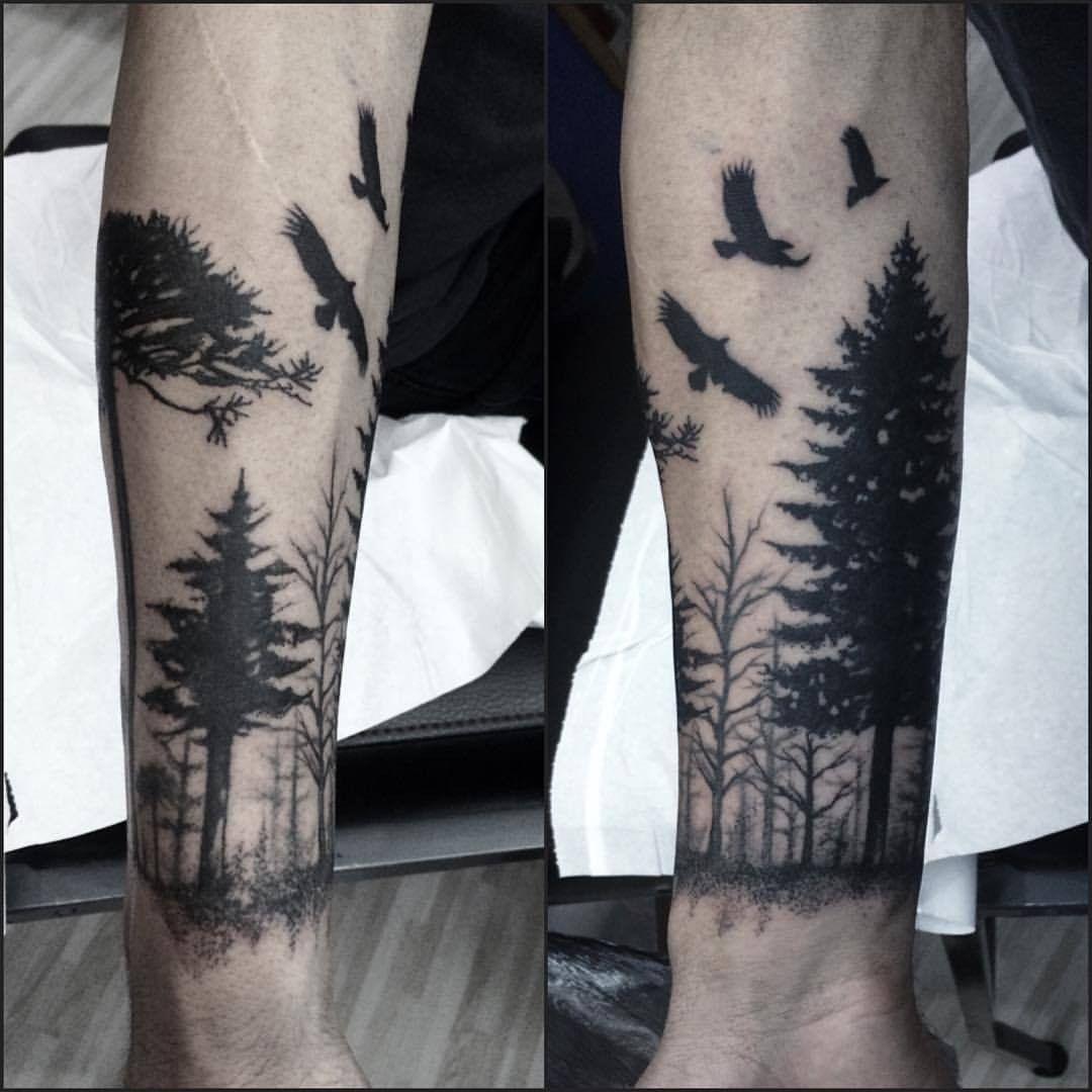 Plantillas De Tatuajes De Bosques