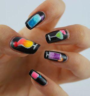 Vicky Loves Nails Cocktail Nails Tropical Nails Vacation Nails