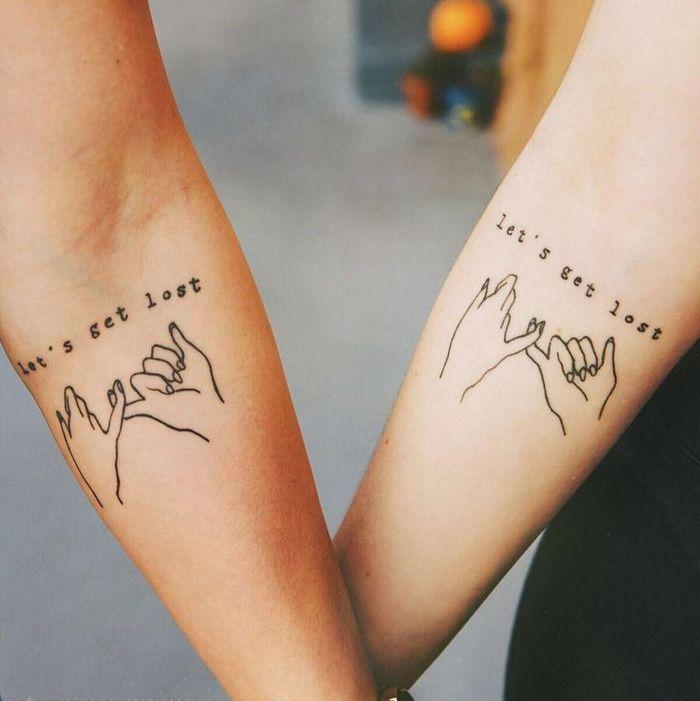 ▷ 57 coole Tattoos für Paare, die ewige Liebe symbolisieren