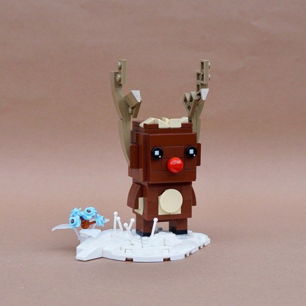 Rudolph the BrickHeadz Reindeer | Amazing lego projects ...