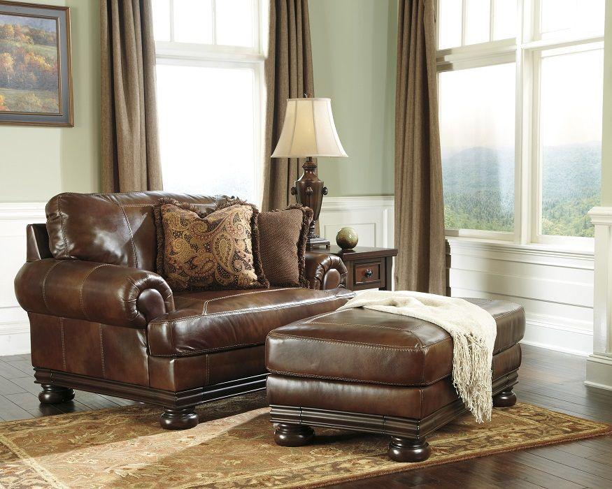 Leather Chairs Chaise Ashley Furniture Furniture Chair And A