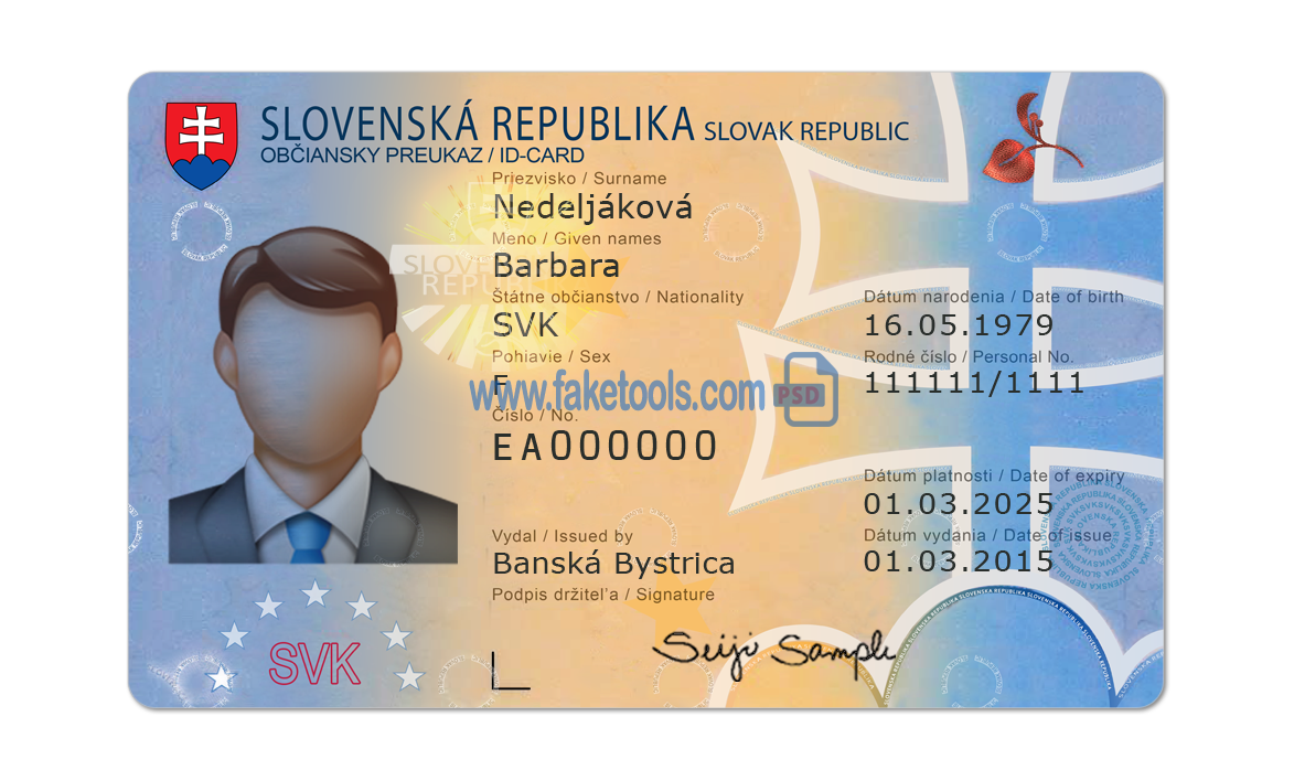 Slovakia Id Card Number