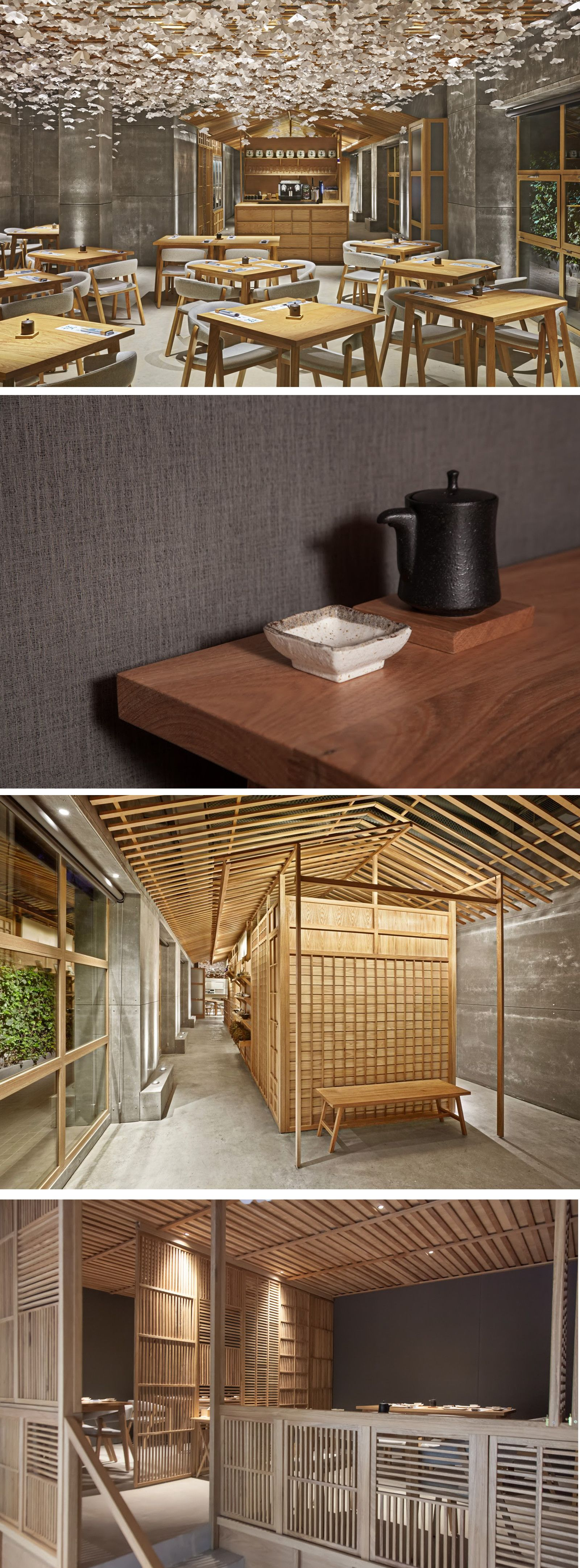 Nozomi Sushi equipodrt recycled fabric, up swing, covers the walls of the vip