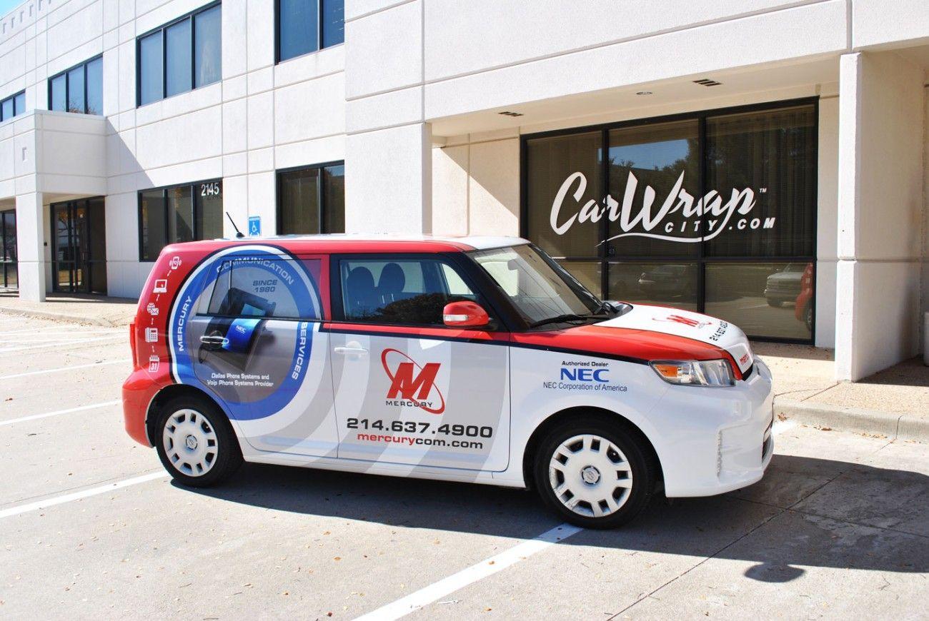 Mercury Communications Scion Xb Full Wrap Truck Wraps Graphics Car Wrap Car