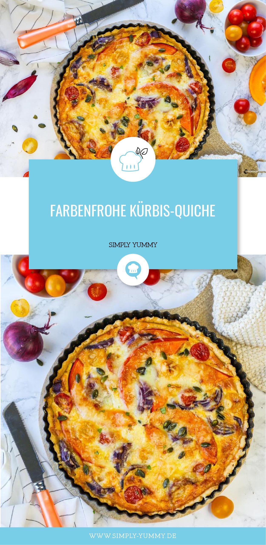 Farbenfrohe Kürbis-Quiche #herbstbacken