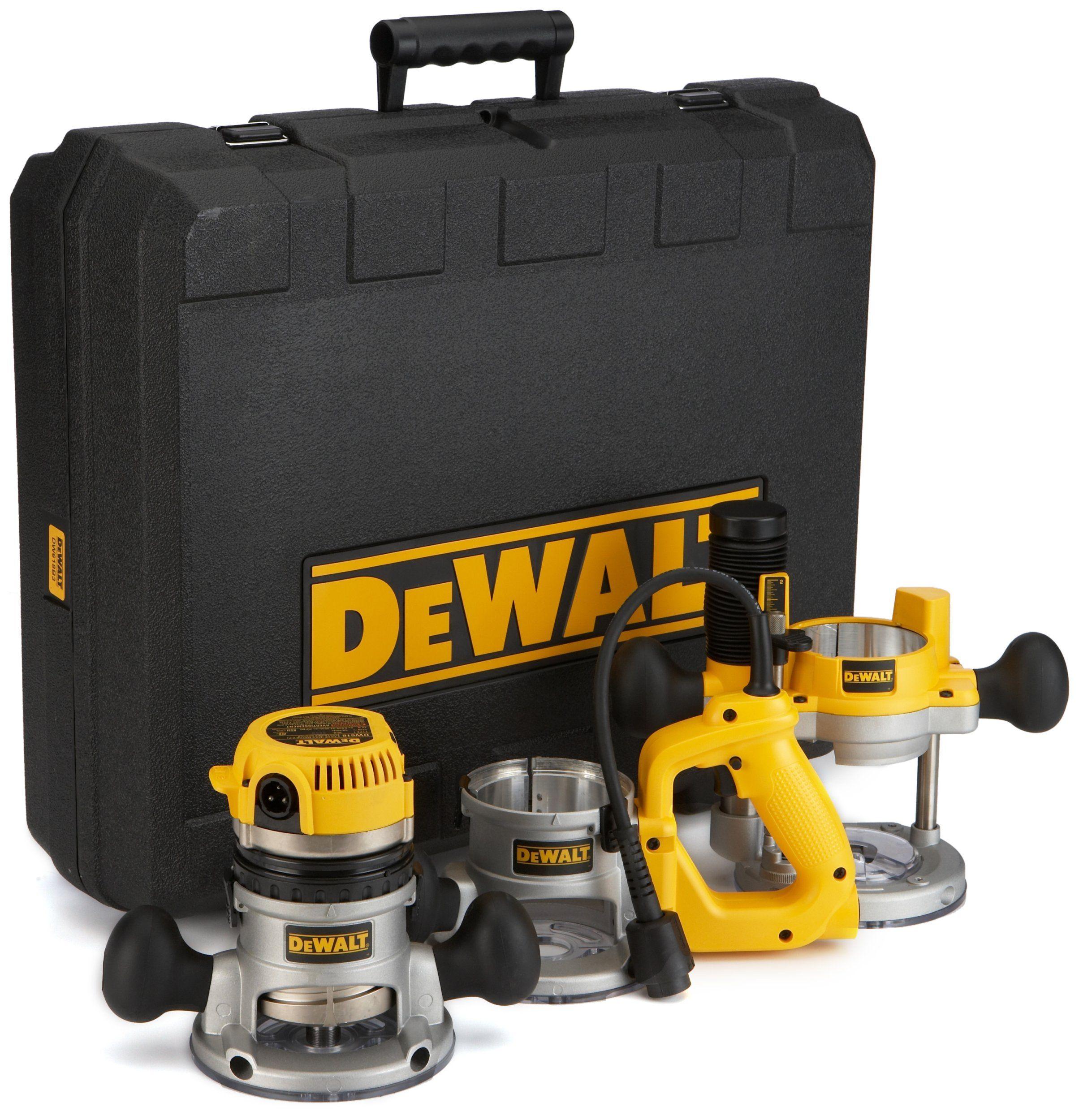 Dewalt Dw618b3 12 Amp 2 1 4 Horsepower Plunge Base And Fixed Base Dewalt Router Amazon Com Wood Router Dewalt