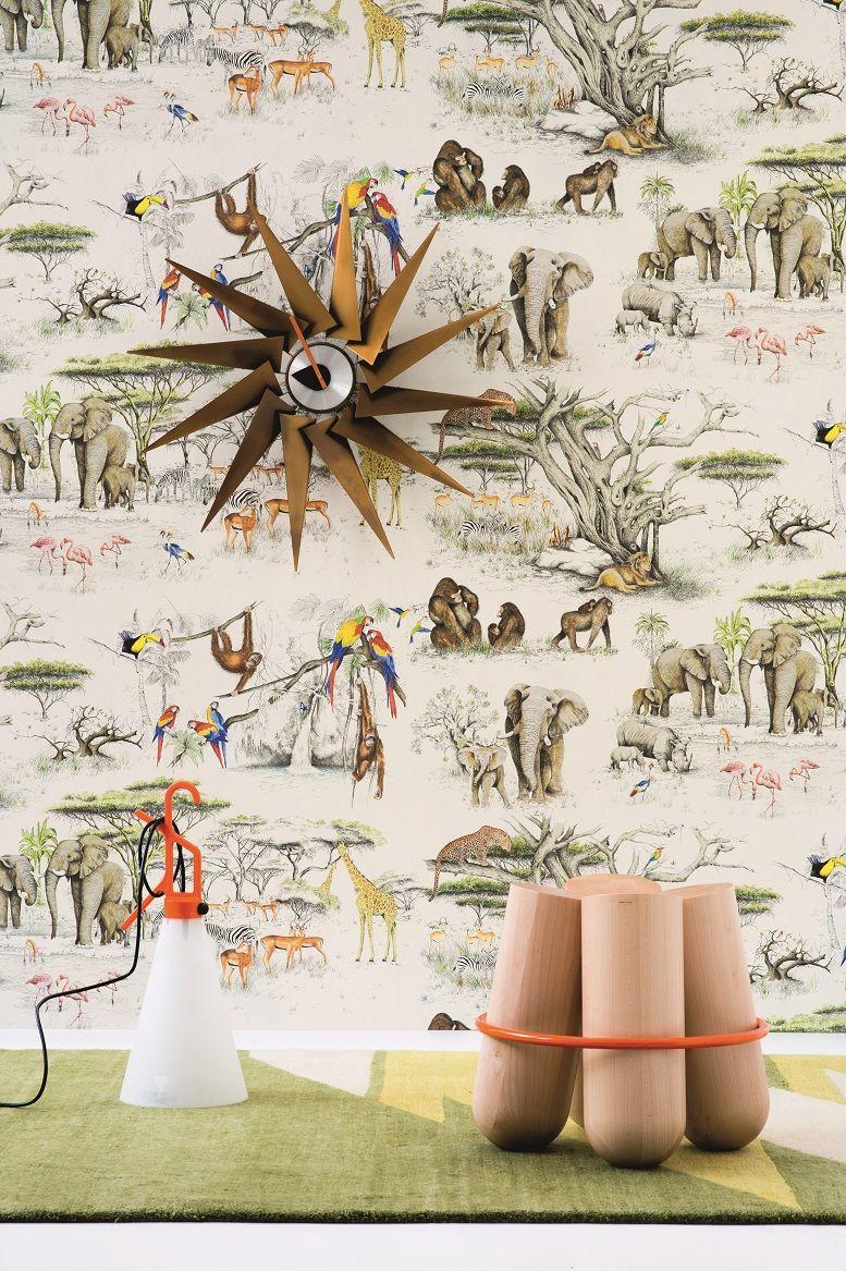 "Papier Peint Pierre Frey masai mara"" wallpaperla maison pierre frey | papier"