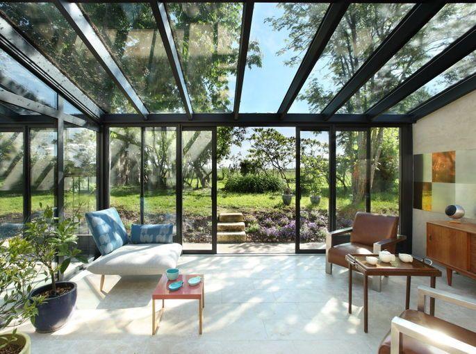 Veranda google zoeken greenhouse conservatory - Amenagement veranda design scandinave ...