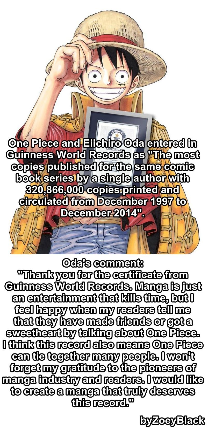 I grew up with One Piece, I read the manga and watch the anime whenever I can, this is one ...