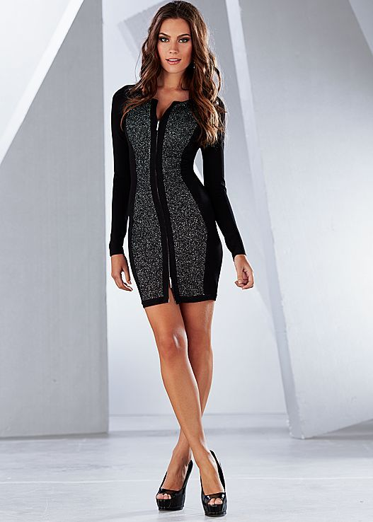 Zip front sweater dress 4174506e6
