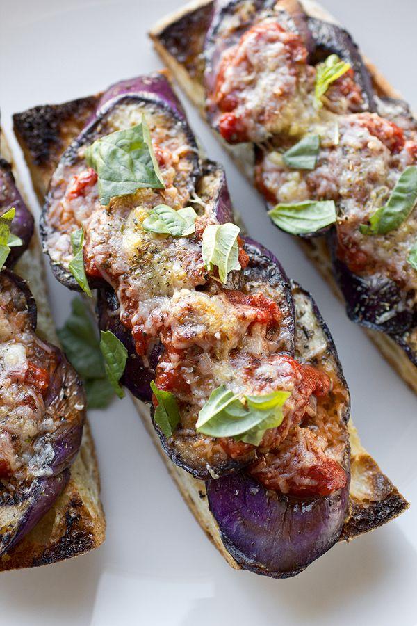 Grilled Eggplant Parmesan With Fiery Marinara On Crusty Garlic Toast Recipes Food Grilled Eggplant,Purple Cleome Flower