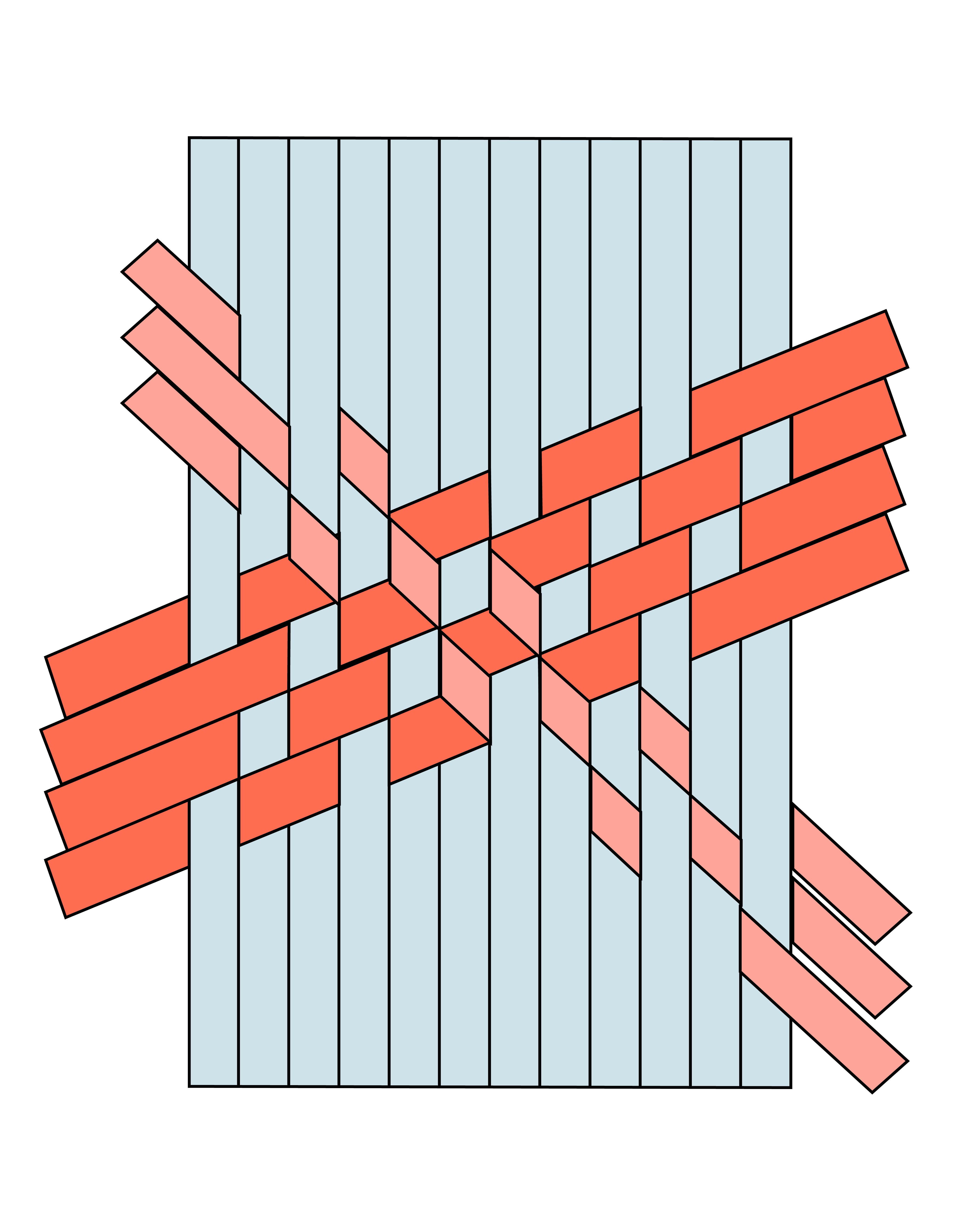 Tumbling Block Bias Tape Weaving - The House That Lars Built