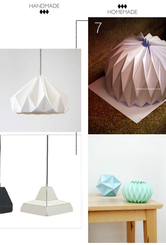 Diy Abat Jour Et Bougeoirs Origami Lampe Papier Diy Et Diy Geek