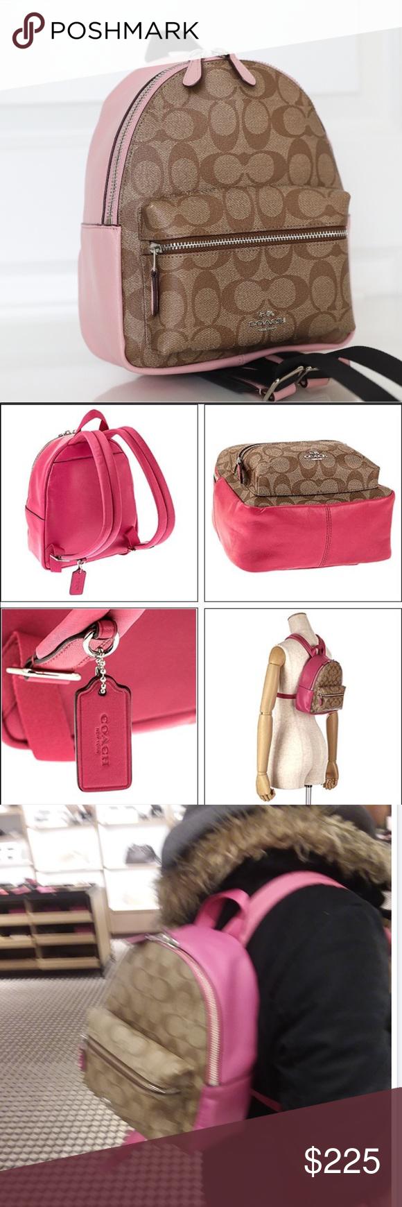 f460be213 ... new zealand coach f58315 mini charlie signature backpack bag never  used. coach mini charles backpack